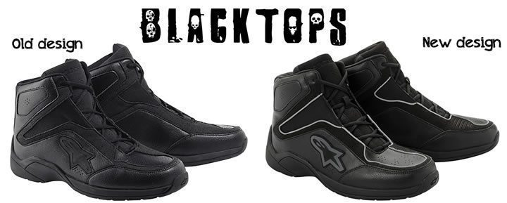 alpinestars blacktops_old_vs_new_design