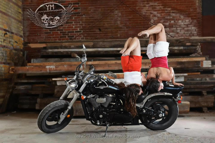 Motorcycle Contortionists