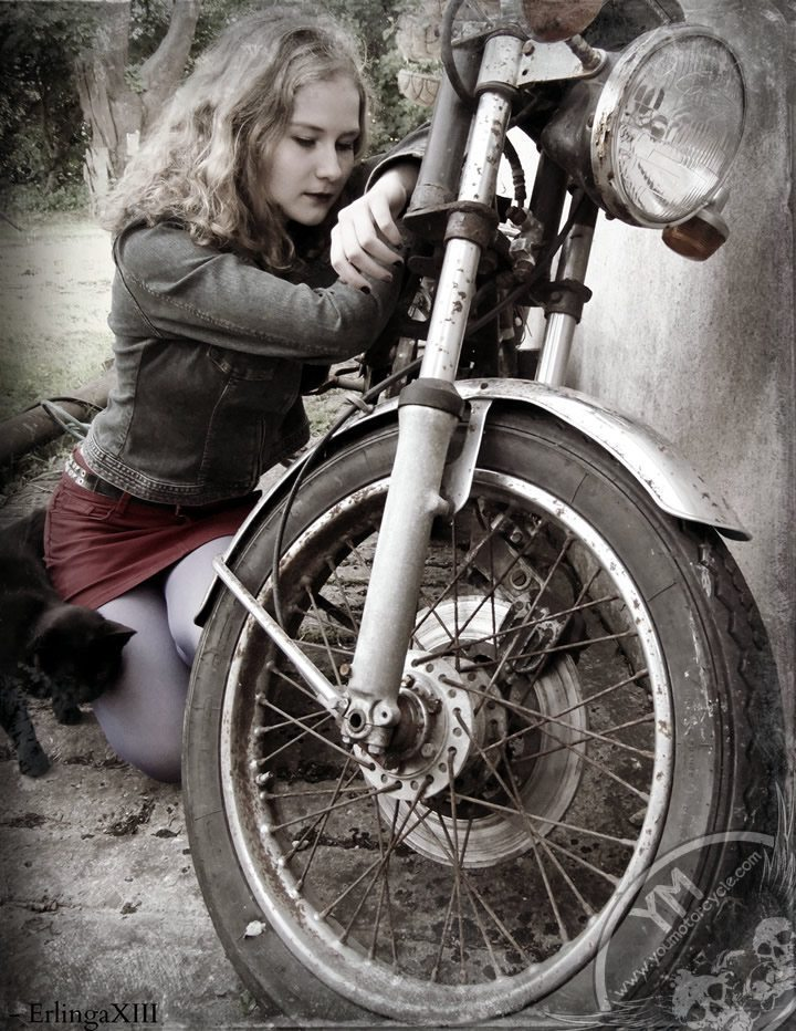 girl with motorcycle biker iii by erlingaxiii-d56znmy
