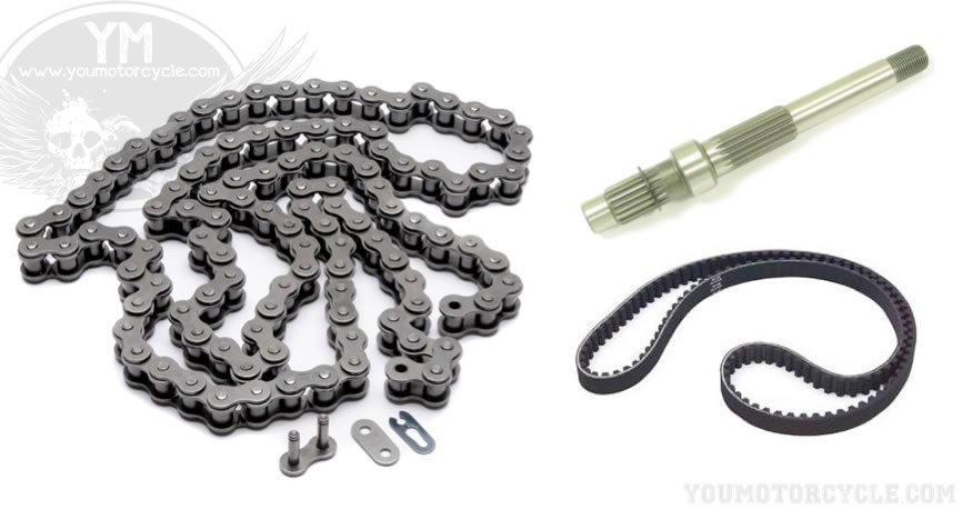 Motorcycle Chain Drive vs. Belt Drive vs. Shaft Drive