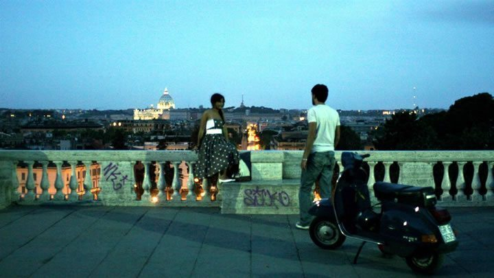 notte sento scooter couple rome