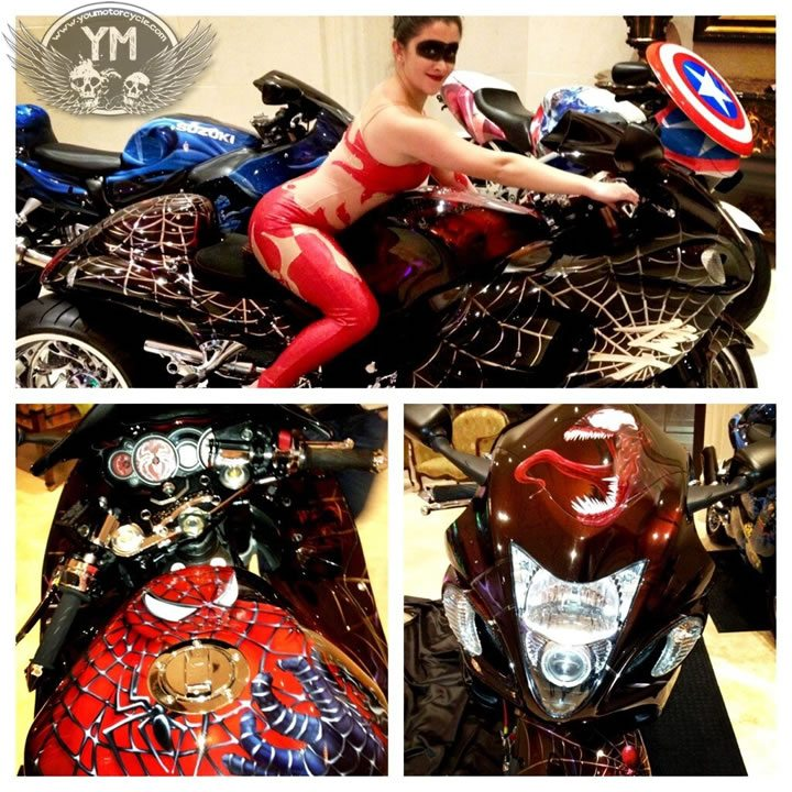 Valentines Day Motorcycle Superheroes