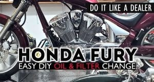 How To - Honda Fury Oil and Filter Change