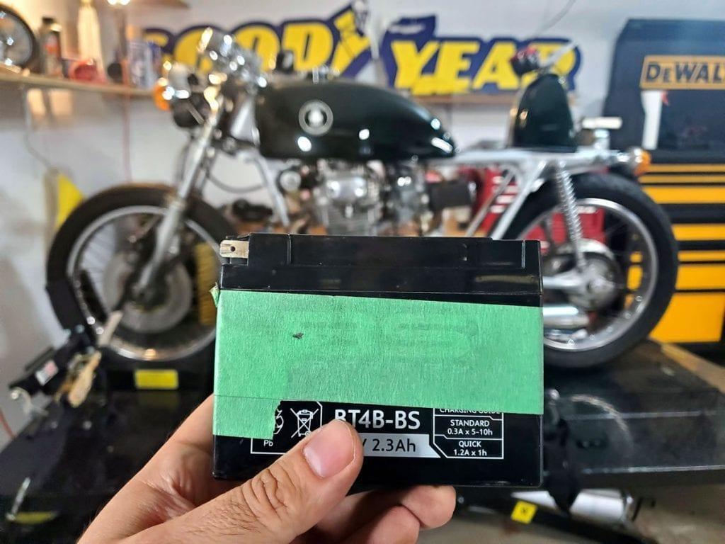 tiny honda cl350 battery